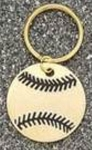 Brass Baseball Key Tags