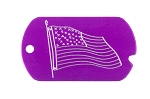 Flag Military Tag Necklace