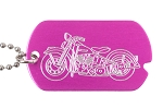 Motorcycle Military Tag Necklace