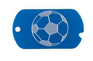 Soccer Military Tag Necklace