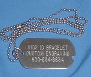 Plain (No Design) Stainless Steel Military ID Tag Necklace